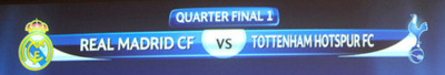 uefa shows off the draw for quarter final #1: real madrid v tottenham
