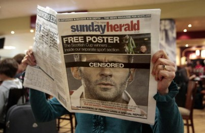 ryan giggs on the cover of the sunday herald