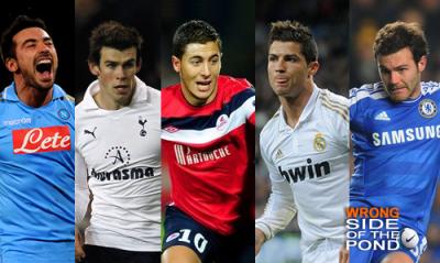 Ezequiel Lavezzi, Gareth Bale, Eden Hazard, Cristiano Ronaldo, Juan Mata