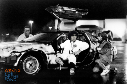 Pele, Maradona and Cruyff in the DeLorean