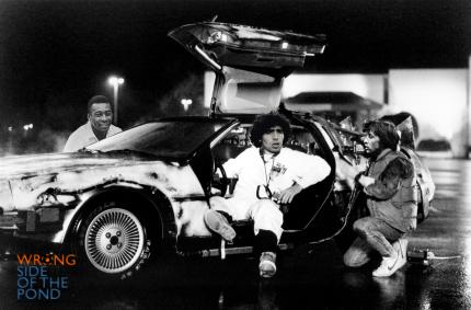 Pele, Maradona and Cruyff in the DeLorean