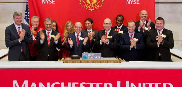 Manchester United Opening Bell at the NYSE