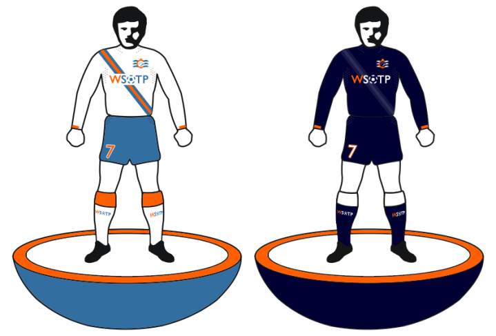 the new 2013 home kit (left) and away kit (right).