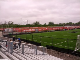 The practice pitches at Toyota Park.