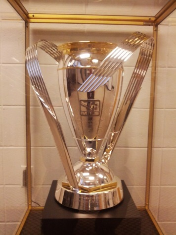 I tried to convince them to let me lift the Crew's MLS Cup, but they politely declined.