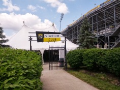 The Stadium Club offers a great place to enjoy a beer in the shade prior to the match.