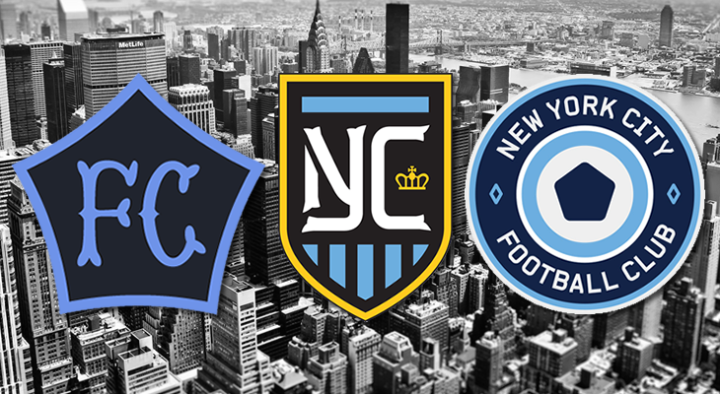 while there have been a load of suggested brand proposals for the new NYCFC, these submissions from M.Willis, DigbyLabs and Hyperakt were the cream of the crop.
