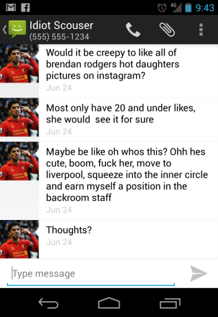 WSOTP - Idiot Scouser - Rodgers Daughter