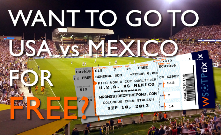 USA vs Mexico Tickets For Free