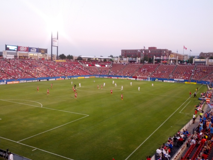 A view from my seats during the FC Dallas match vs Vancouver Whitecaps on 9/7/2013.