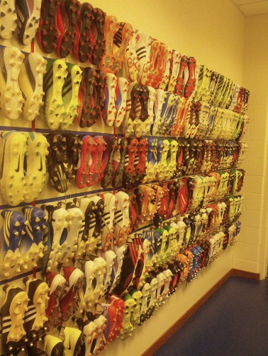 Everyone always loves a shot of all the player boots.