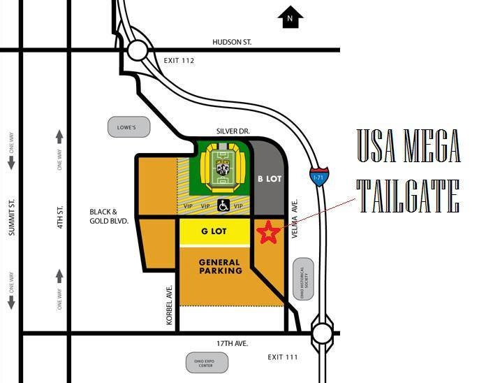 USA Mega Tailgate Map