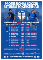 One of the first ever WSOTP works to appear in print, I designed the schedule poster for the club's inaugural NPSL and WPS seasons.