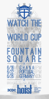 The Saints hosted World Cup Watch parties on Cincinnati's Fountain Square -- I designed the posters in addition to MCing the event.