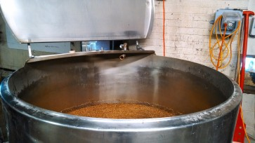 Here we see E.S. Bee ingredients about to begin the brewing process.
