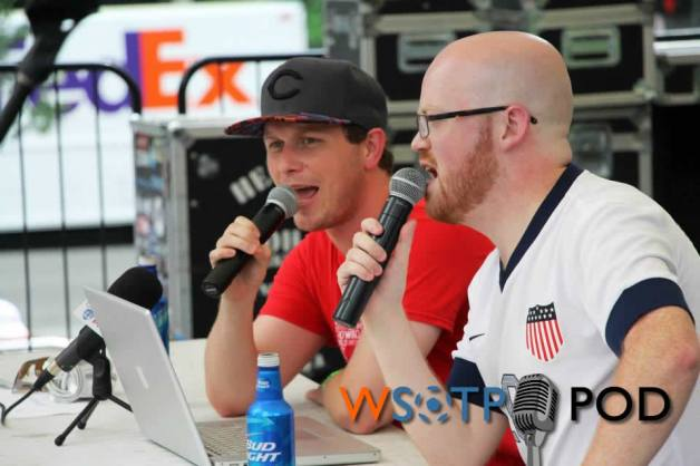 we recorded our third and final live podcast on fountain before, during and after the usa v belgium game.