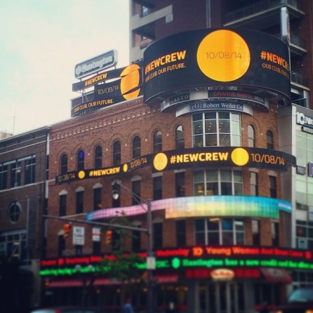The #NewCrew Guerrilla marketing campaign featured digital elements. (Photo Courtesy of Columbus Crew Facebook feed)