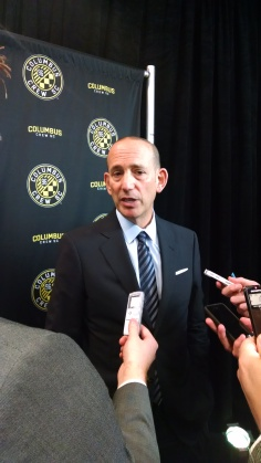 The commissioner dropped a bunch of buzzwords, but in general seemed please with direction Columbus is heading.