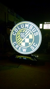 The signs which had dotted Columbus were updated post event to feature the new crest.