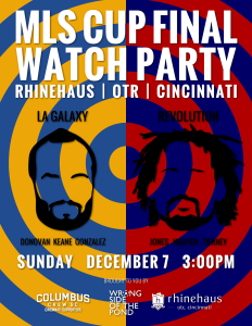 Landon vs Jones? That's how I framed it the 2014 MLS Cup Final Cincinnati watch party digital poster.