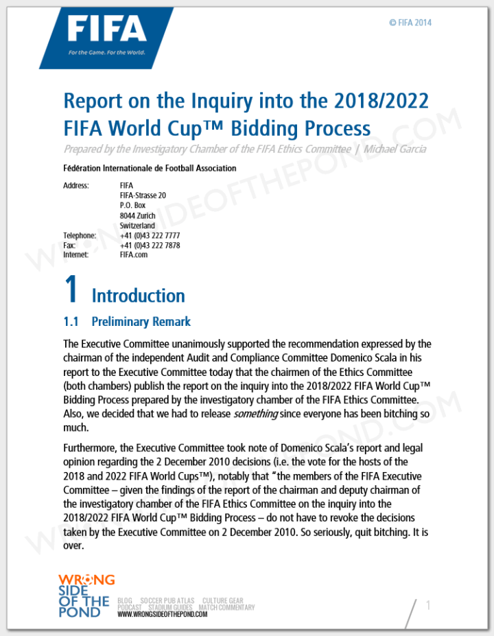 WSOTP - Blog - Fake FIFA Corruption Report Pg1