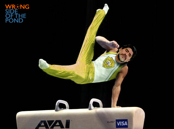 Maradona on a Pommel Horse