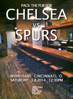 A nod to historic match posters for the Chelsea-Tottenham match in March of 2014.