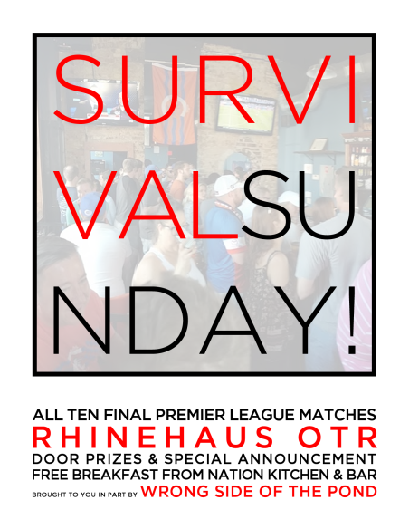Home pub Rhinehaus hosted a 2016 Premier League survival day party, and I once again made some art for them.