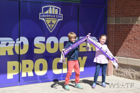 A pair of youngsters show their enthusiasm for pro soccer finally coming to Kentucky.