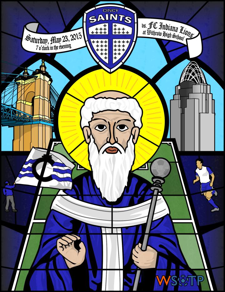 WSOTP - Cincinnati Saints Matchday Poster 1