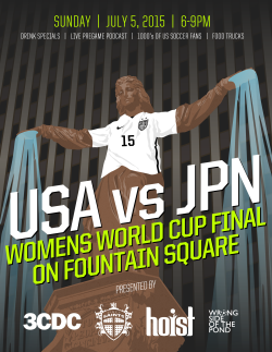 We once again hosted another World Cup Watch Party on Cincinnati's Fountain Square.