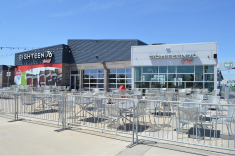 Unique to any of the grounds I've visited thus far, DSG Park features a restuarant/bar that's open before and after matches.