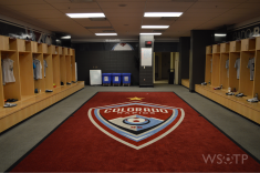 The spacious locker room housed the MLS All Stars just the night before.