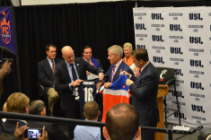 USL President Jake Edwards awards Lindner and Berding the league's latest expansion bid. Expect a few more in the next few months.