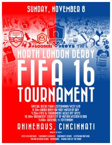 We sponsored our first-ever FIFA Tournament alongside the Cincinnati Gooners, Cincinnati Spurs and Rhinehaus.