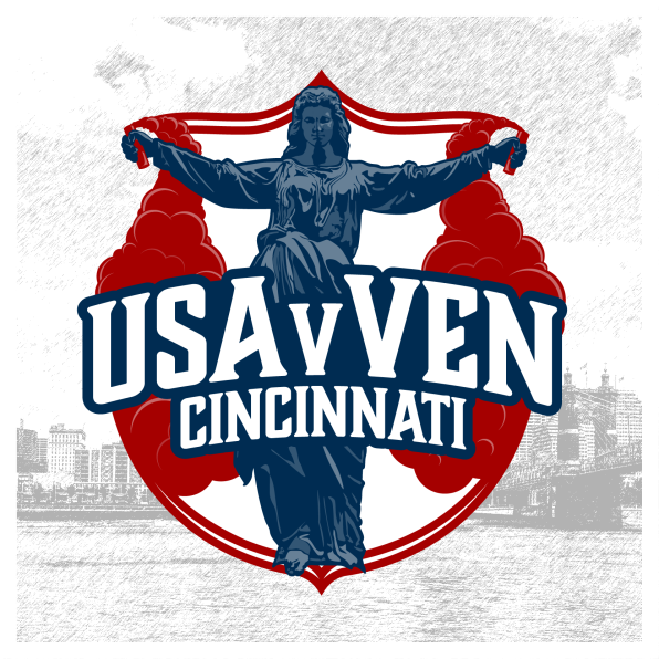 The U.S. men's national team visited Cincinnati for the first time ever in June 2019, and I created a Cincinnati themed crest to commemorate and market events around the match.